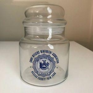 Kitchen - Commemorative Glass Candy Jar Nassau, NY